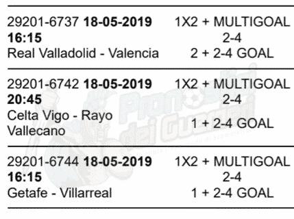 pronostici liga 38 giornata 18 maggio 2019