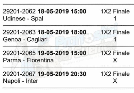 pronostici serie a 37 giornata 18 19 maggio 2019