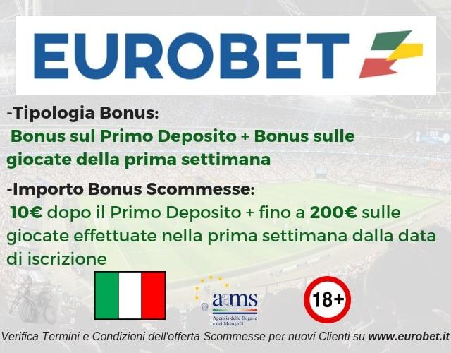 bonus scommesse eurobet