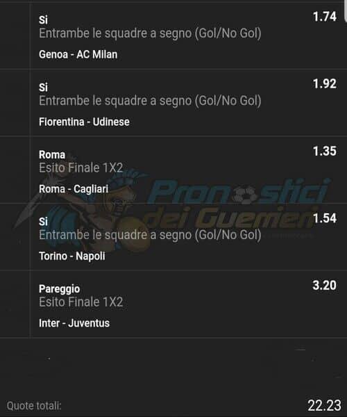 Pronostici Serie A 7 Giornata Del 5 E 6 Ottobre 2019