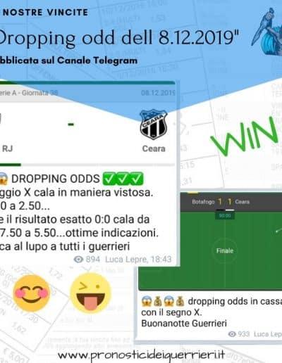 Dropping odd Vincente dell' 8 dicembre 2019 Canale Telegram