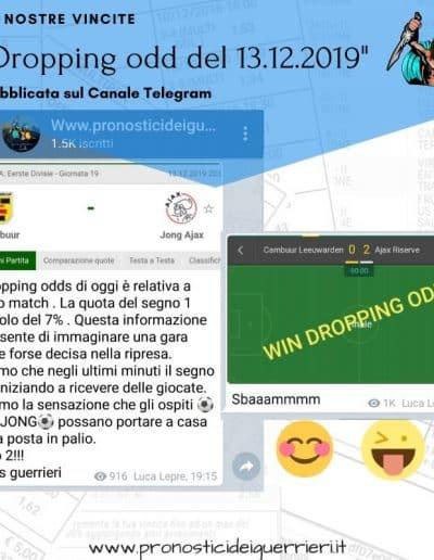 Dropping odd vincente del 13 dicembre 2019 Canale Telegram