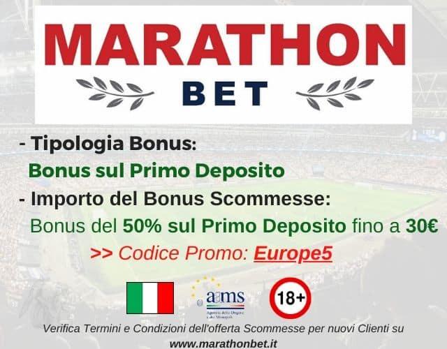 bonus scommesse Marathonbet