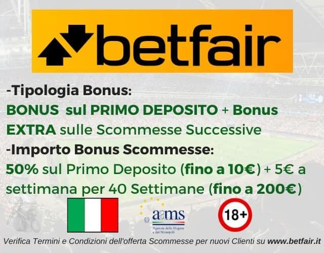 bonus scommesse betfair