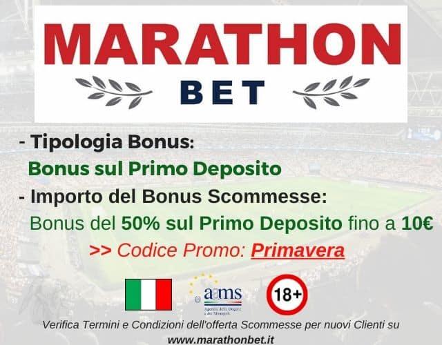bonus scommesse marathonbet primavera