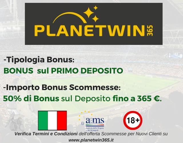 bonus scommesse planetwin365