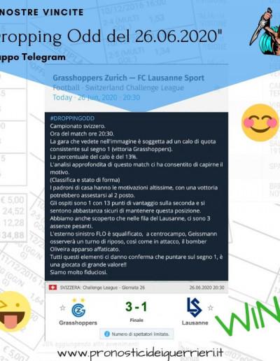 dropping odd vincente del 26 giugno 2020 canale telegram