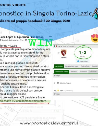Singola vincente torino lazio del 30 giugno 2020 gruppo facebook