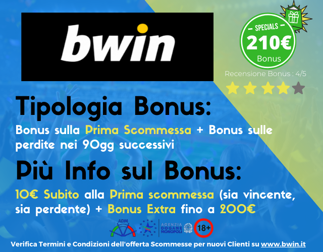 bonus scommesse bwin
