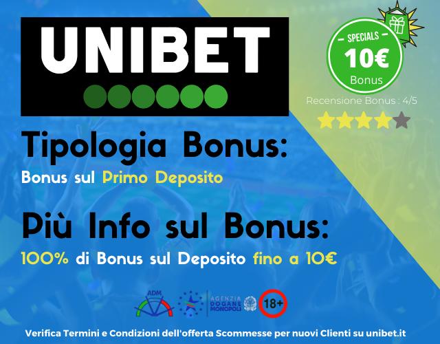 bonus scommesse unibet
