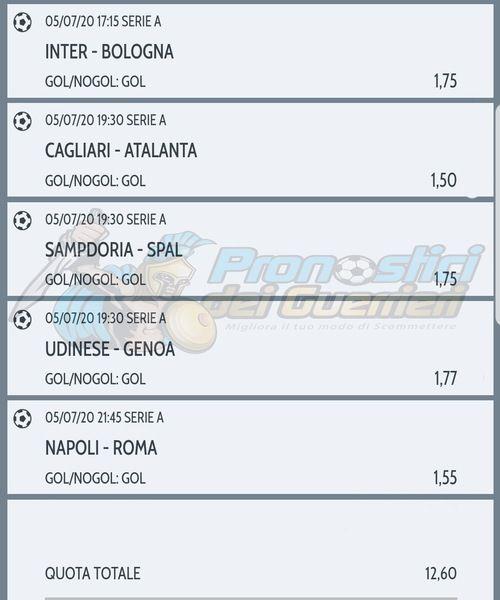 Pronostici Serie A 30 Giornata La Multipla Del 5 Luglio 2020