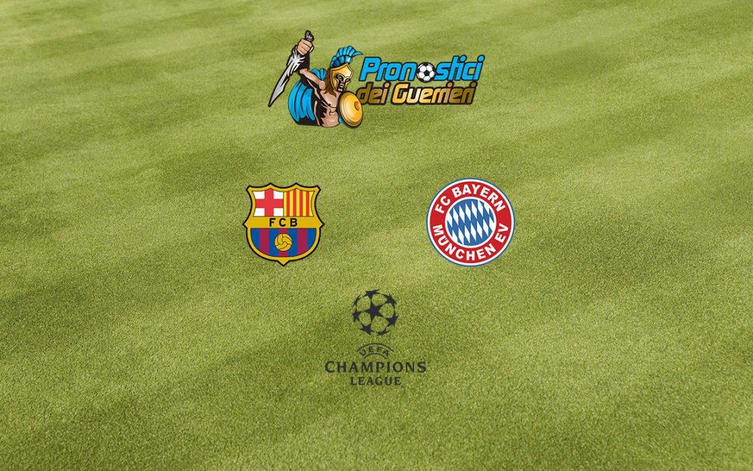 Pronostici Quarti Champions: Barcellona – Bayern Monaco (14.08.2020)