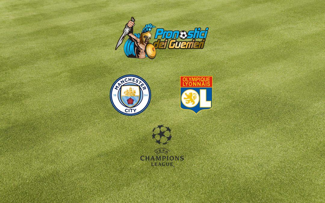 Pronostici Quarti Champions: Manchester City – Lione (15.08.2020)