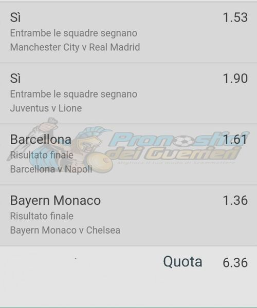 quote bet365 pronostici ottavi champions league 8 agosto 2020