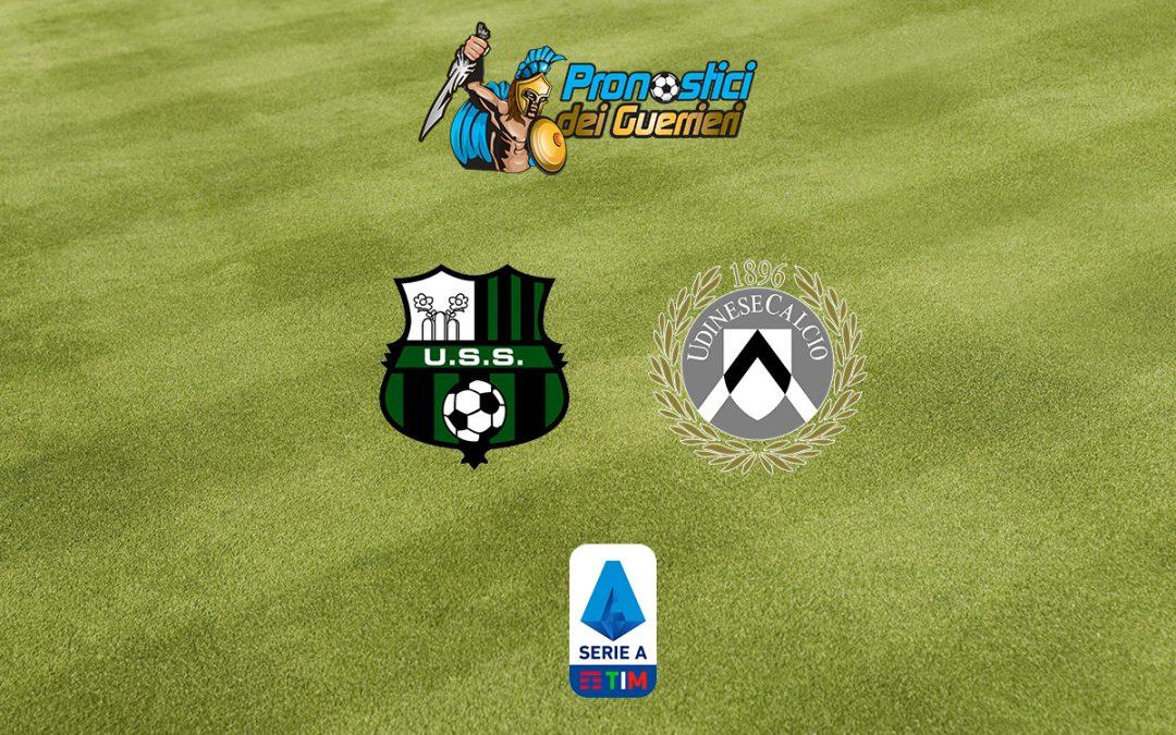 Sassuolo-Udinese: Pronostico 38^ Giornata Serie A (2 Agosto 2020)