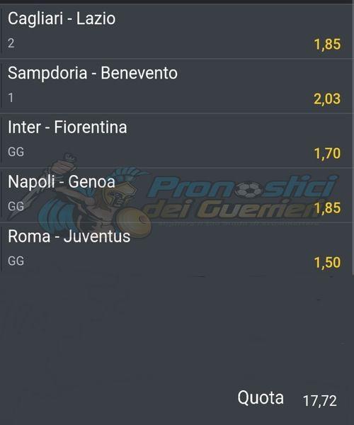 Pronostici Serie A 2 Giornata La Multipla Del 26 E 27 Settembre