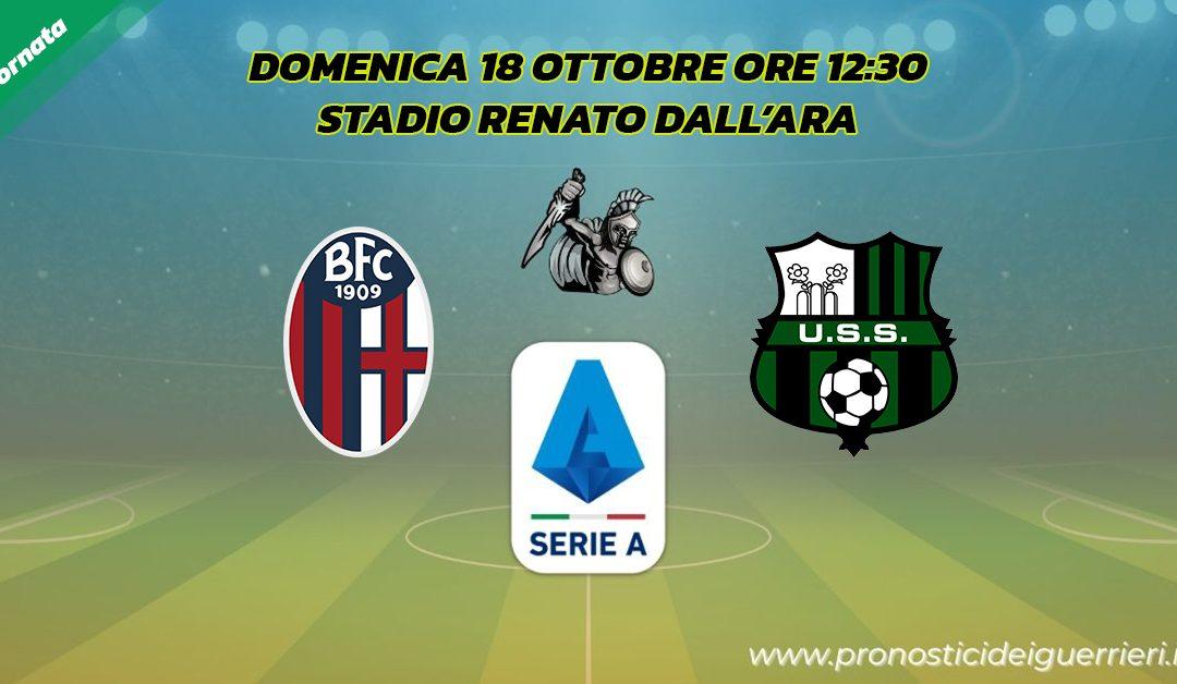 Bologna-Sassuolo: Pronostico 4^ Giornata Serie A (18 Ottobre 2020)