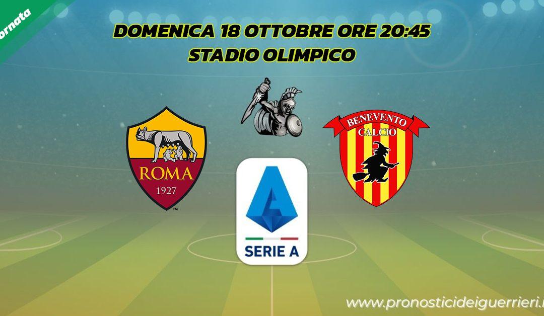 Roma-Benevento: Pronostico 4^ Giornata Serie A (18 Ottobre 2020)