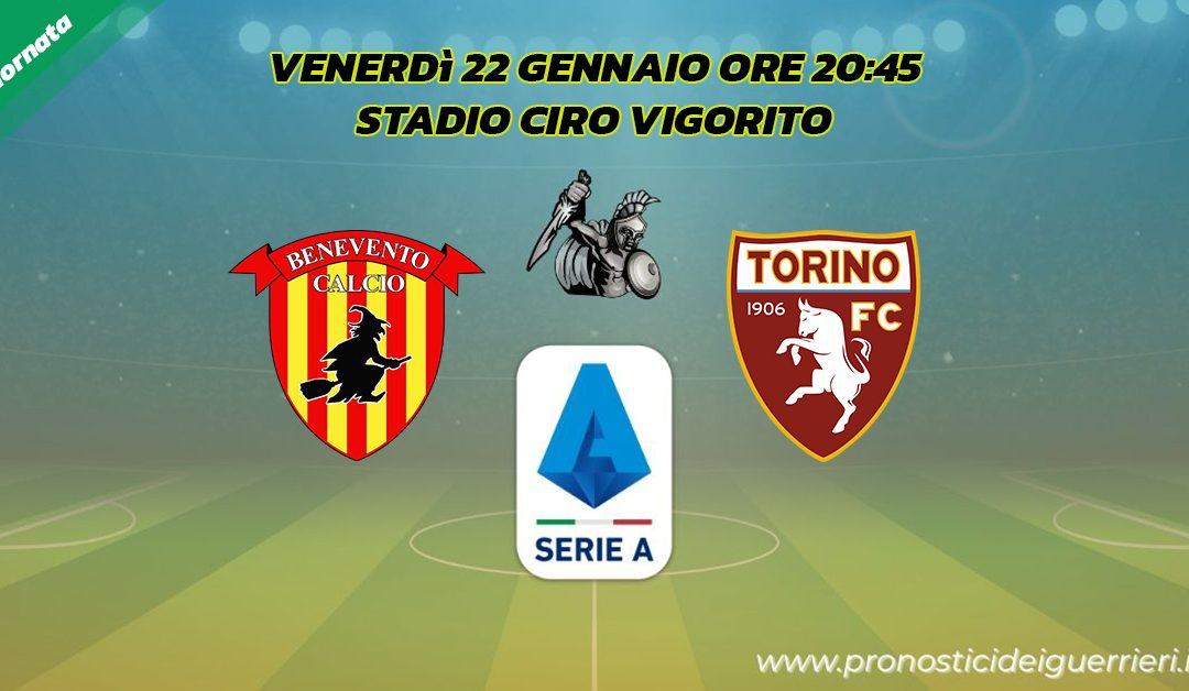 Benevento-Torino: Pronostico 19^ Giornata Serie A (22 Gennaio 2021)