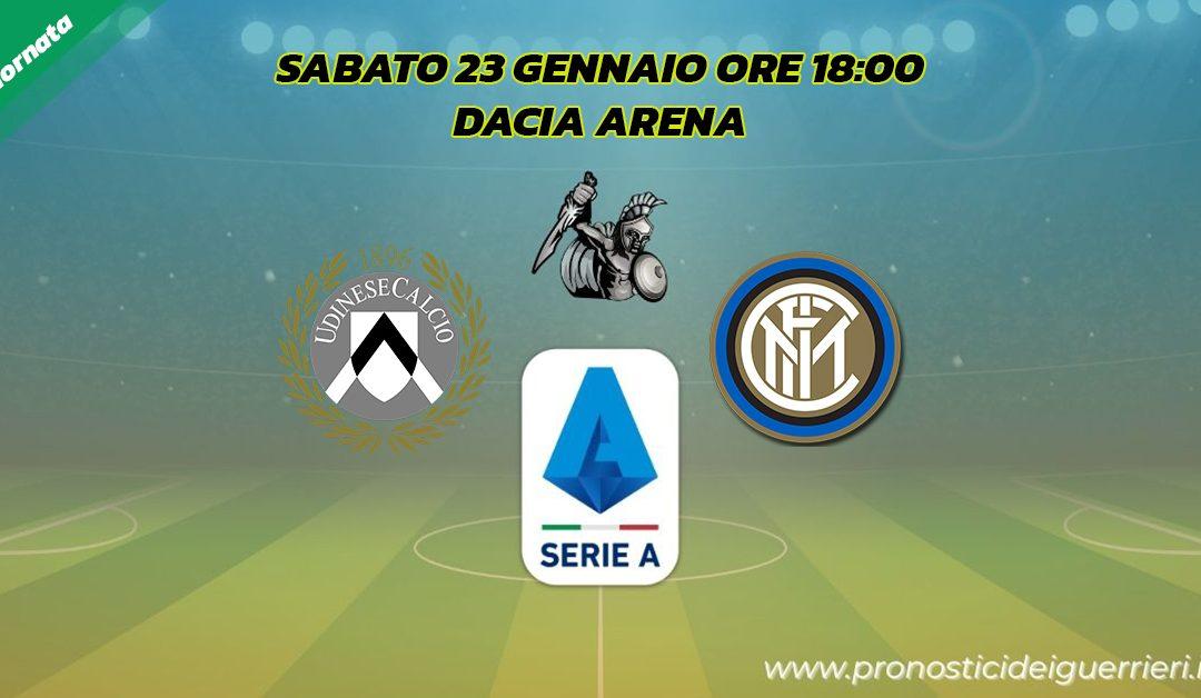 Udinese-Inter: Pronostico 19^ Giornata Serie A (23 Gennaio 2021)