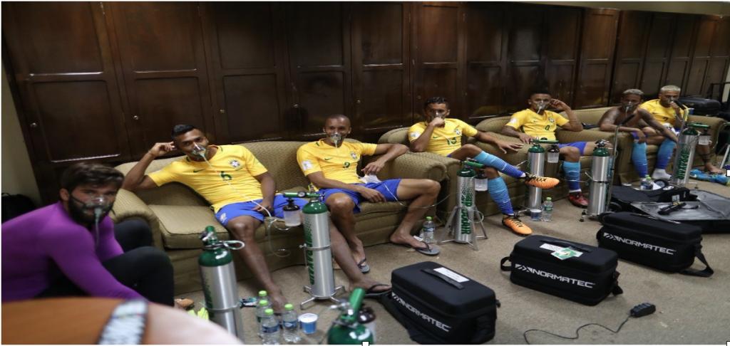 giocatori brasile carenza ossigeno in bolivia