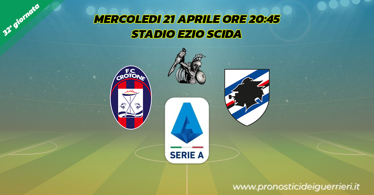 crotone sampdoria serie a 32 giornata 21 aprile 2021