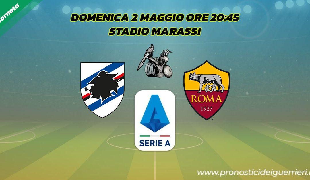 Sampdoria-Roma: Pronostico 34^ Giornata Serie A (2 Maggio 2021)