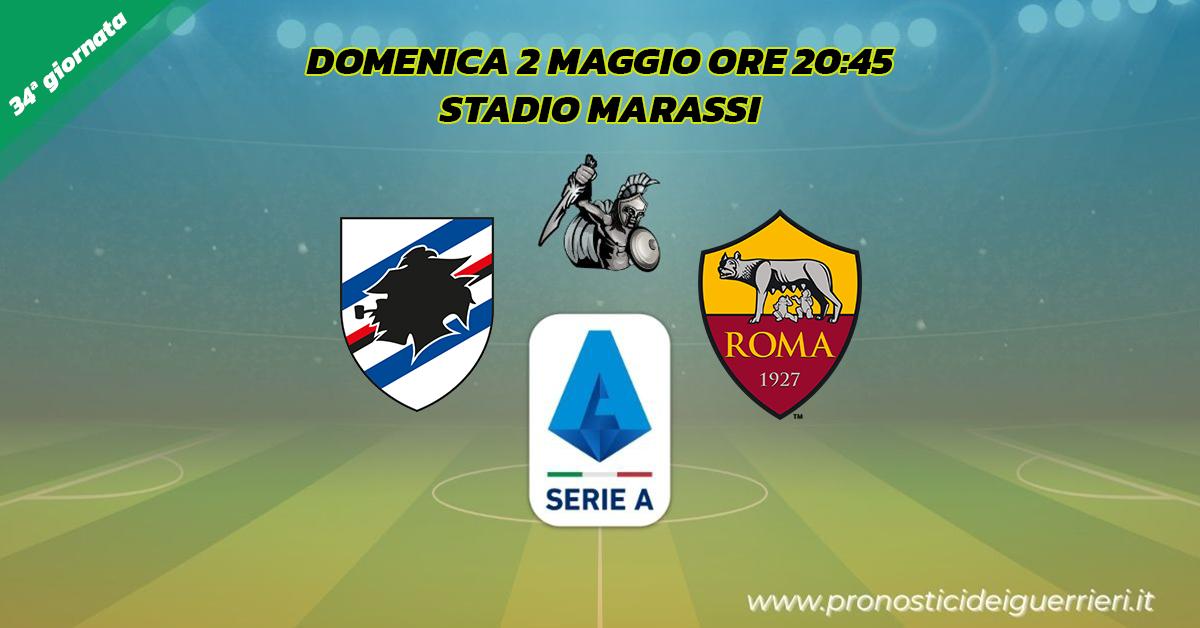 sampdoria roma serie a 34 giornata 2 maggio 2021