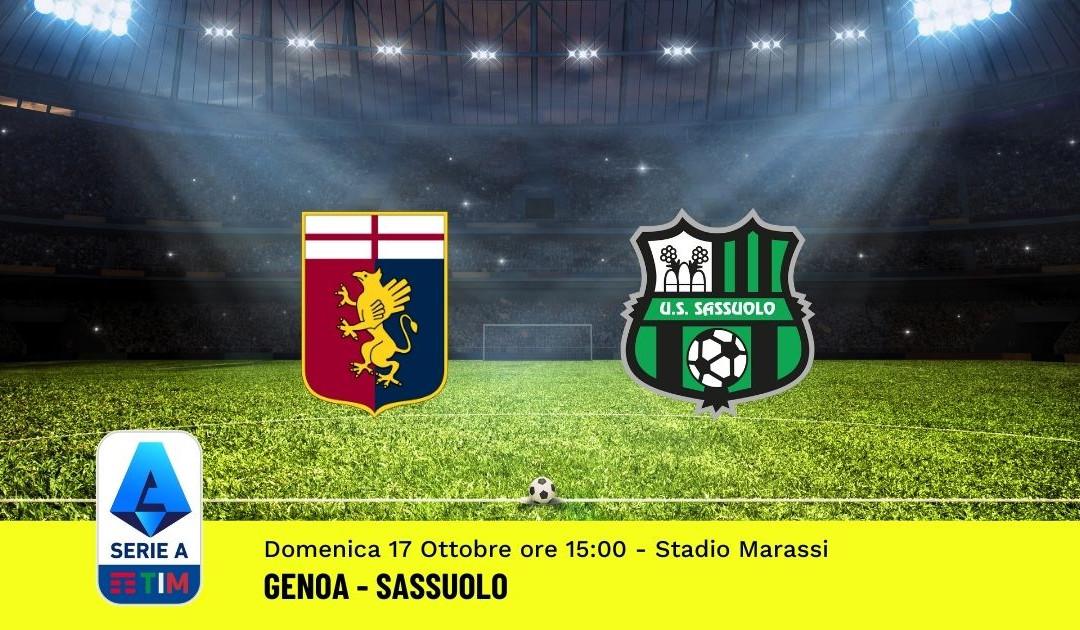Pronostico Genoa-Sassuolo: 8^ Giornata Serie A (17 Ottobre 2021)