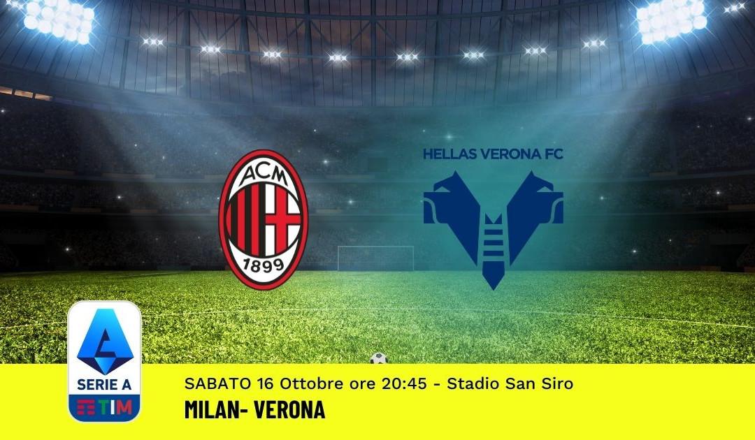 Pronostico Milan-Verona: 8^ Giornata Serie A (16 Ottobre 2021)